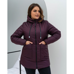 Женская куртка 00081-2 размеры 44-54 цвет бордовый