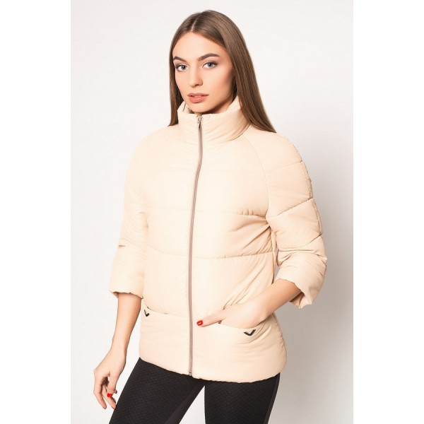 Женская куртка  R00017-4 размеры 42-52 цвет бежевый