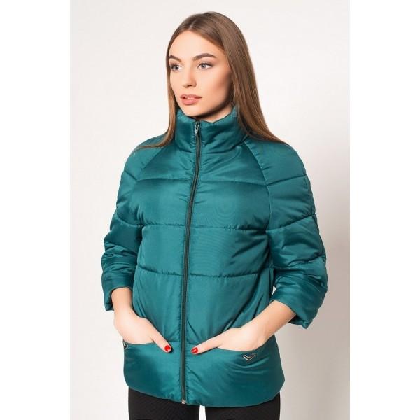 Женская куртка  R00017-1 размеры 42-52 цвет зеленый