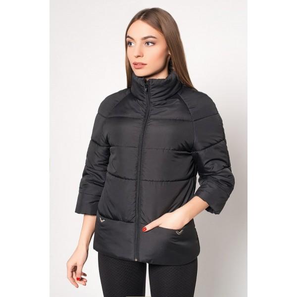 Женская куртка  R00017-3 размеры 42-52 цвет черный