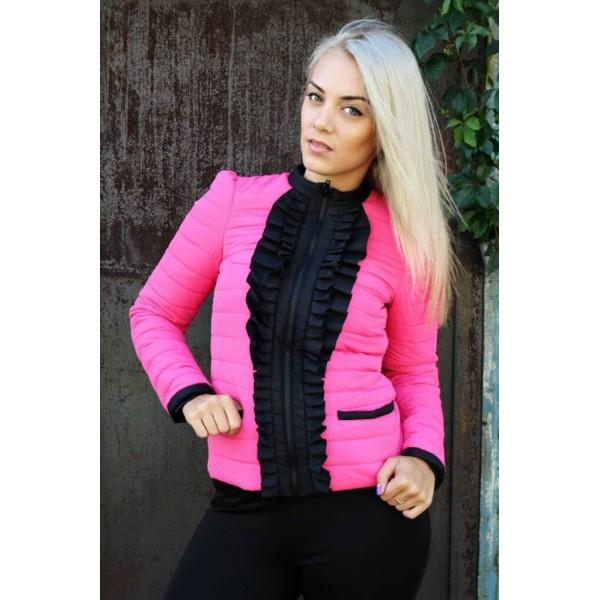 Женская куртка РЮША7 размеры 40-44 цвет малина