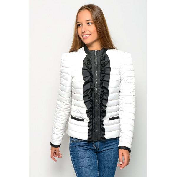 Женская куртка РЮША4 размеры 40-48 цвет белый