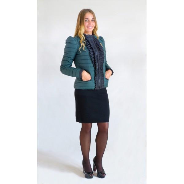 Женская куртка РЮША5 размеры 40-42 цвет зеленый