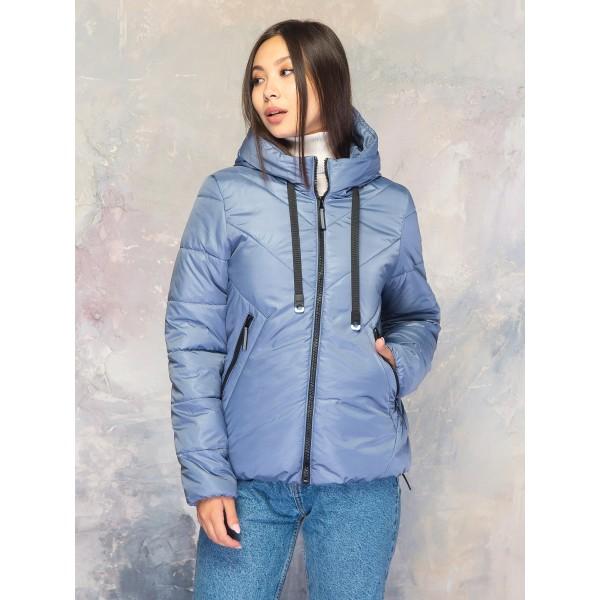 Женская куртка 00065-1 размеры 42-56 цвет голубой