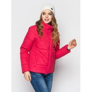 "Женская куртка ""РОМБ""2 размер 42-52 цвет малина"