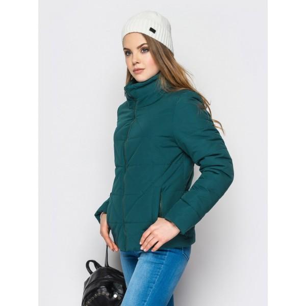 """Женская куртка """"РОМБ""""5 размер 42-50 цвет зеленый"""