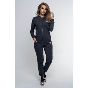 Спортивный костюм женский  темно серый №СК0007-2