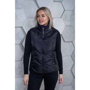 Женский жилет 000121-3 размеры 42-64 цвет черный