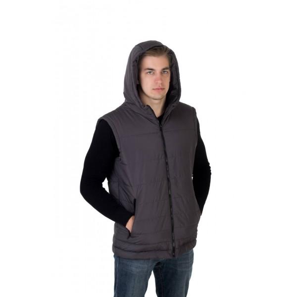 Мужской жилет 0011-2 размеры 48-56 цвет темно серый
